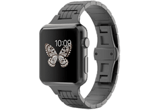 HYPERLINK Apple Watch Länkad Stål Armband 38 mm - Svart