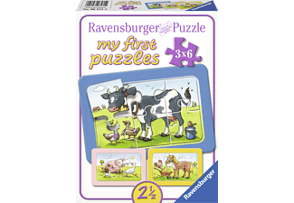 RAVENSBURGER Kinderpuzzle - Gute Tierfreunde my first puzzles, Mehrfarbig