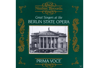 VARIOUS - Great Singers at the Berlin State Opera - (CD)