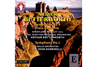 VARIOUS, Royal Scottish National Orchestra, Butterworth - Sinfonien 1 & 4/Konzert Für Viola - (CD)