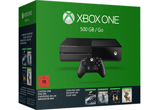 MICROSOFT Xbox One 500GB inkl. 1 von 4 Spielen (Rise of the Tomb Raider, Forza 6, Halo: MCC oder Rare Replay)