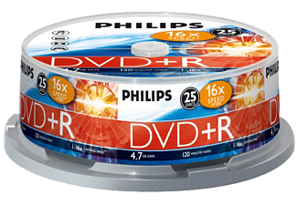 PHILIPS Pack 25 DVD+R 4.7 GB 16 x (DR4S6B25F/00 )