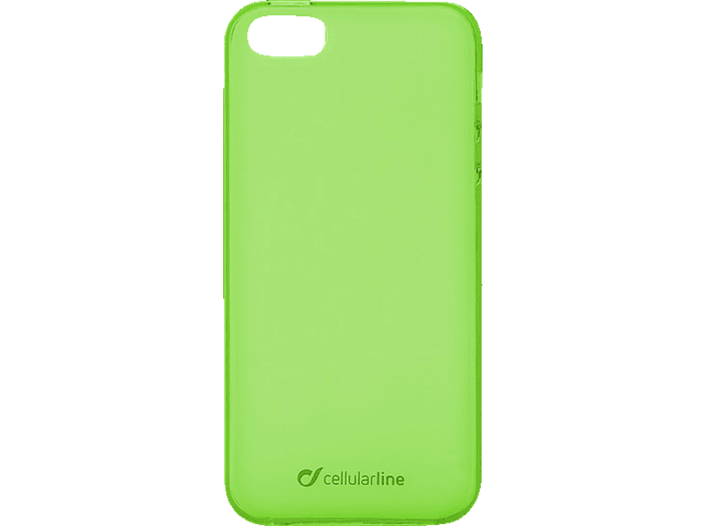 CELLULAR LINE 37261 Backcover Apple iPhone 5, iPhone 5s, iPhone SE Thermoplastisches Polyurethan Grün | 08018080256875