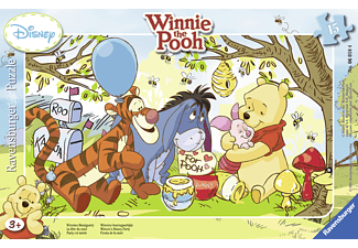 RAVENSBURGER Kinderpuzzle - Winnie Puuh, Winnies Honigparty Rahmenpuzzle
