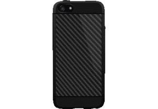 BLACK ROCK Carbon Backcover Apple iPhone 5, iPhone 5s, iPhone SE Carbon/Kunststoff/Polycarbonat/Thermoplastisches Polyurethan Schwarz