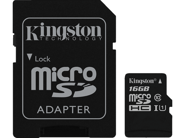 KINGSTON  Canvas Select, Micro-SDHC Speicherkarte, 16 GB, 80 MB/s | 00740617274646