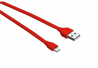 URBAN REVOLT Câble Lightning - USB Plat 1 m Rouge (20129)