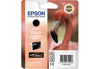 EPSON Original Tintenpatrone Flamingo Photo Schwarz (C13T08714010)