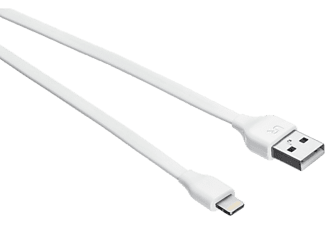 URBAN REVOLT Flat Lightning - USB-kabel wit (20345)