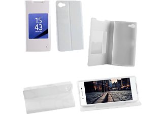VOLTE-TEL SONY XPERIA Z5 E6653 LEATHER-TPU VIEW BOOK STAND White VL