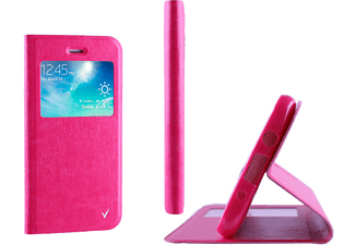 VOLTE-TEL SAMSUNG G360F CORE PRIME LEATHER-TPU VIEW BOOK STAND Pink