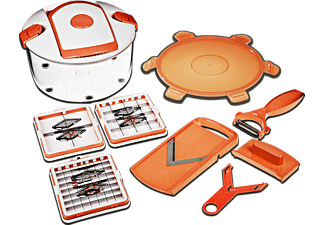 GENIUS 26263 Salat Chef Smart 8-tlg., Hobel-Set, Orange