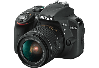 NIKON D3300 Black + Φακός AF-P DX 18-55 mm VR Black - (VBA390K008)
