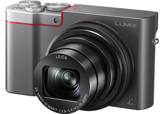PANASONIC Lumix DMC-TZ101 LEICA Digitalkamera, 20.1 Megapixel, 10x opt. Zoom, Anthrazit/Silber