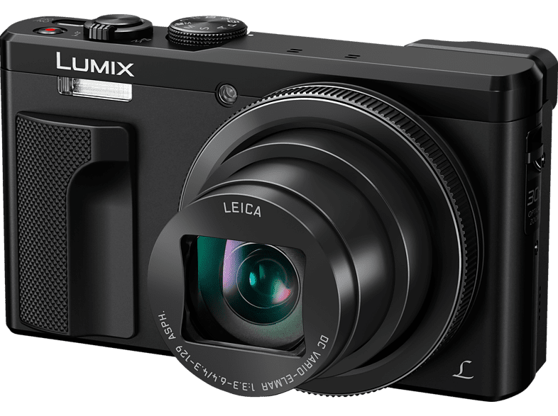 PANASONIC Lumix DMC-TZ81 LEICA Digitalkamera Schwarz, 18.1 Megapixel, 30x opt. Zoom, LCD-Display, WLAN
