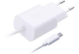 ISY Travel Charger with Micro USB 1.2A White - IWC 3000 WT