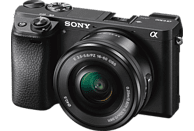 SONY Alpha 6300 Kit (ILCE-6300L) Systemkamera 24.2 Megapixel mit Objektiv 16-50 mm , 7.5 cm Display  , WLAN