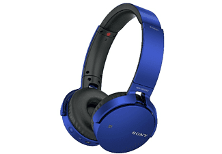 SONY MDR-XB650BTL, On-ear Kopfhörer, Bluetooth, Blau