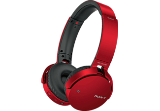 SONY MDR-XB650, On-ear Kopfhörer, Bluetooth, Rot