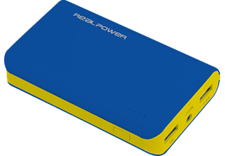 REALPOWER 180795 PB-6k Color Edition Powerbank 6000 mAh Blau/Grün