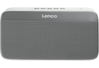 LENCO BT-200 Light, Bluetooth Lautsprecher, Near Field Communication, Weiss/Grau