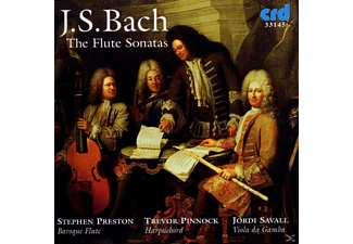 Stephen Preston, Jordi Savall, Trevor Pinnock, Preston/pinnock/savall - Bach Flute Sonatas - (CD)