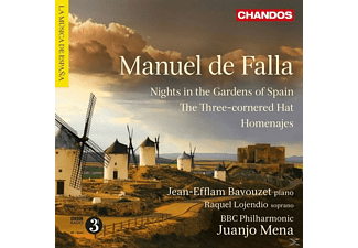 Jean - Efflam Bavouzet, Raquel Lojendio, BBC Philharmonic - Nights in the Gardens of Spain/Homenajes - (CD)
