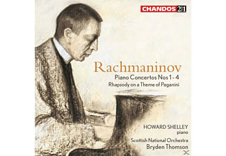 Shelley/scottish National O Howard, Thomson/Shelley/SNO, Thomson,Bryden/Shelley,Howard/SNO - Klavierkonzerte 1-4/Rhapsodie - (CD)