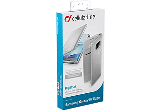 CELLULAR LINE Flip Book Case Galaxy S7 Edge Silver - (BACKBOOKGALS7ES)