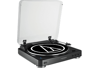 AUDIO-TECHNICA AT-LP60BT, Plattenspieler, Riemenantrieb, 33 1/3, 45 U/Min., Schwarz