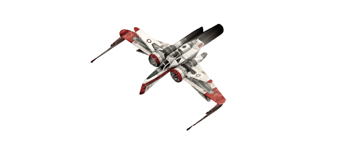 REVELL 03608 ARC-170 Fighter, Rot/Weiß