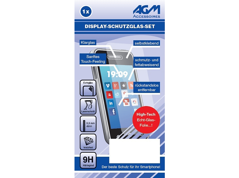 AGM 26261 Displayschutz (Apple iPhone 6, iPhone 6s)