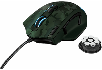 TRUST Souris gamer GXT 155C Green Camouflage (20853)