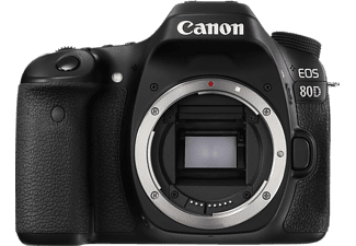 Canon EOS 80D, Body, 24.2Mp, Noir Appareil photo reflex (Résolution photo effective: 24,2 MP) Noir