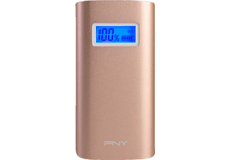 PNY Alu Digital 5200 Rose Gold, Powerbank, 5200 mAh, Rosegold