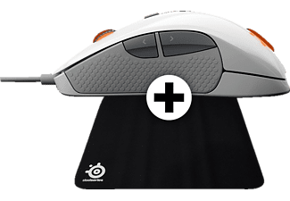 STEELSERIES RIVAL 300 White - (DCA.P/C.06089) + Mousepad QCK