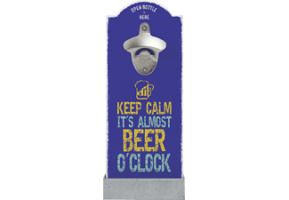 CONTENTO 866406 Keep calm it´s almost beer o´clock Wandflaschenöffner