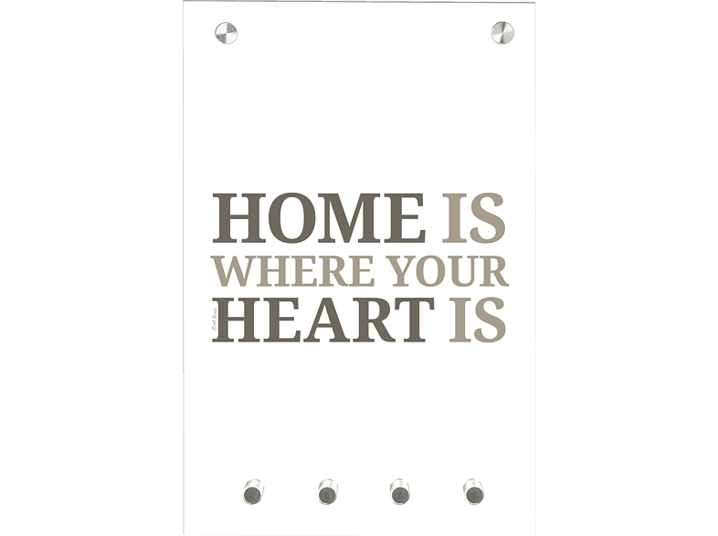 CONTENTO 866180 Home is where your heart is Magnet-Schlüsselboard