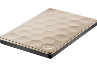 SEAGATE Backup Plus Ultra slim, 2 TB, 2.5 Zoll, Festplatte, Gold
