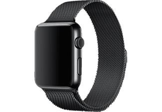 APPLE MLJH2ZM/A Milanaise Loop, Armband, Apple, Watch (42 mm Gehäuse), Schwarz