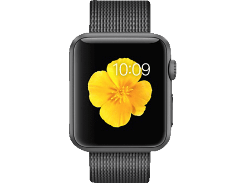 APPLE  Watch 38 mm MMF62FD/A Smart Watch, Aluminium/Nylon, 130-200 mm, Schwarz | 00888462889766