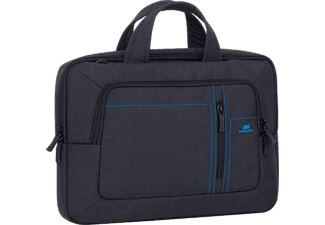 RIVACASE 7520 Βlack Canvas Laptop bag 13.3""