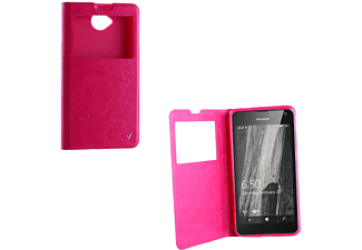 "VOLTE-TEL Θήκη Microsoft Lumia  650 5.0"" Leather-Tpu VIEW Book Stand Pink (5205308159374)"