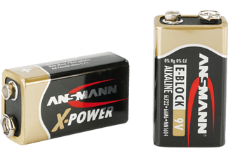 ANSMANN X-Power Alkaline Batterie 9V-Block 9 Volt Batterie