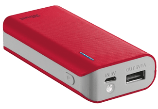 TRUST PRIMO POWERBANK 4400 PORTABLE CHARGER - RED - (21226)