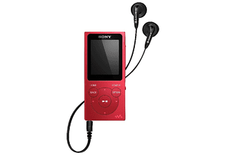 Reproductor MP4 - Sony Walkman NW-E394R, 8GB, Rojo