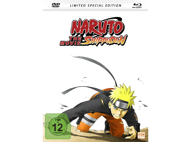 Naruto Shippuden The Movie (2007) (Mediabook) - Limited Special Edition [Blu-ray + DVD]