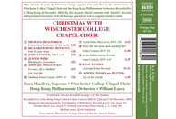Winchester College Chapel Choi - Christmas With... [CD]