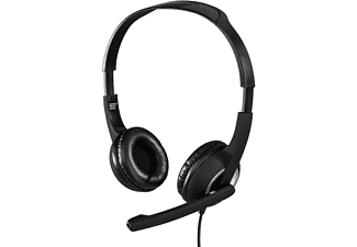 HAMA Essential HS 300, PC-Headset, 2 m, Silber