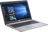 ASUS R516UX-DM275T, Notebook mit 15.6 Zoll Display, Core™ i7 Prozessor, 8 GB RAM, 1 TB HDD, 256 GB SSD, GeForce GTX 950M, Grau